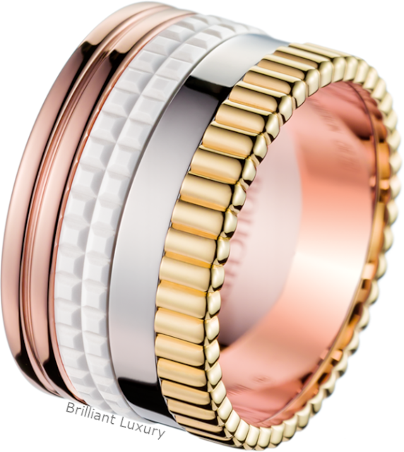 Brilliant Luxury♦Boucheron Paris Quatre White Edition large ring