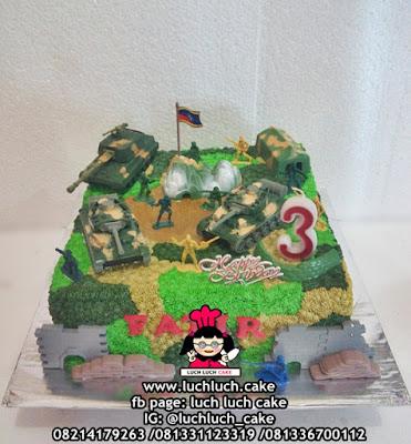 Kue Tart Ulang tahun Anak Tema Tentara