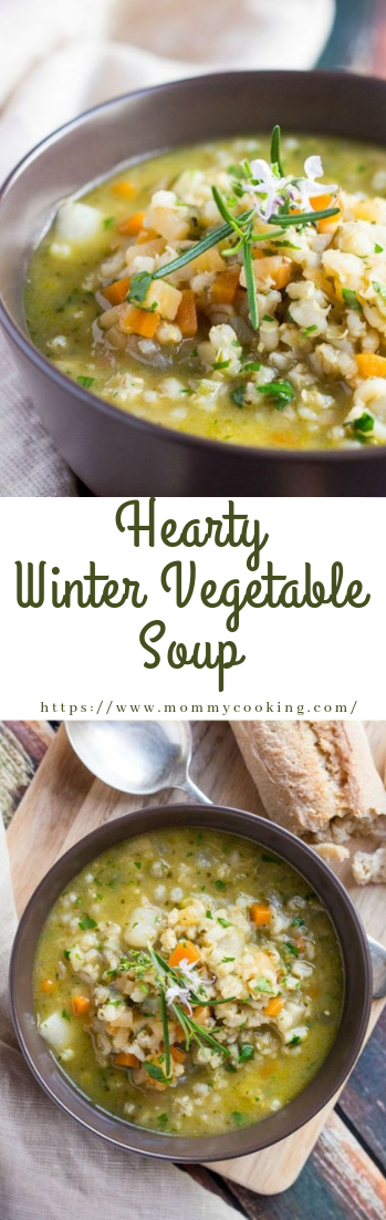 Hearty Winter Vegetable Soup #vegan #souprecipe