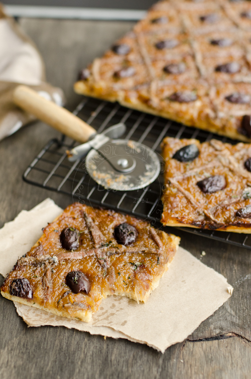 Pissaladiere baked to perfection.