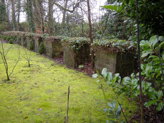 Line of tank traps at the east end of Shepherds Way, North Mymms Image by Peter Miller, part of the Peter Miller Collection