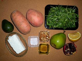 Рецепта за печени сладки картофи с авокадо и queso fresco