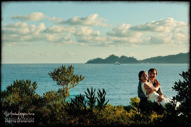 foto matrimonio Castello Canevaro Zoagli promontorio Portofino