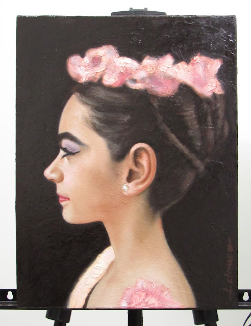 Pintura de retrato a óleo Ayanne Letícia