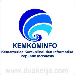 yaitu Kementerian dalam pemerintah Indonesia yang bergerak dibidang komunikasi dan infor  Lowongan Kerja Kementerian Komunikasi dan Informatika Besar-Besaran