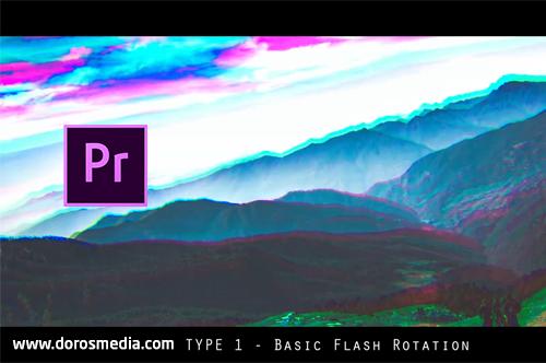 بريسيت إنتقالات فلاش RGB مميزة للأدوبي بريمير مجانا RGB Flash Transitions