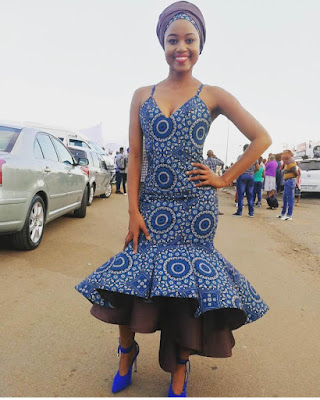 cotton indigo Fabrics made in South Africa by a company named Da Gama 29 Traditional African Shweshwe Dresses Styles For Women To Rock In