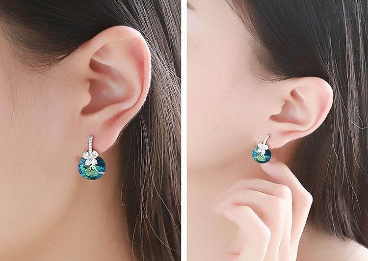 美麗境界鋯石水晶耳環