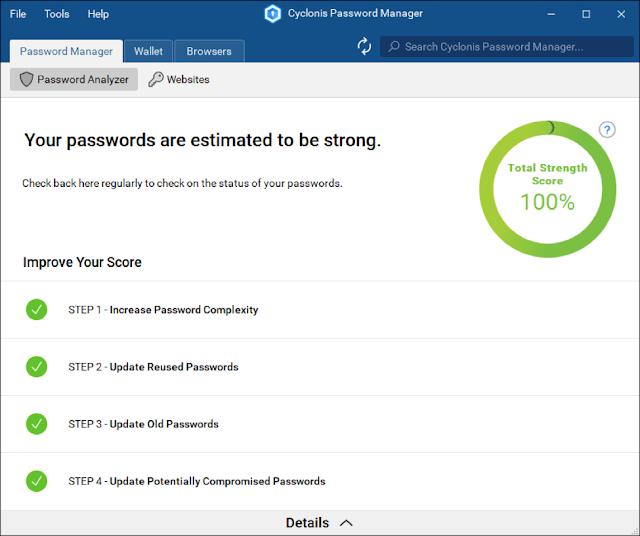 تحميل أفضل برنامج لإدارة كلمات المرور - Cyclonis Password Manager Review