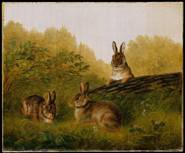 Rabbits on a Log, By Arthur Fitzwilliam Tait