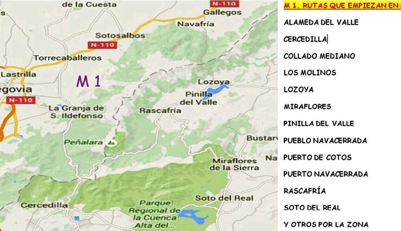 Sendergran madrid m 1 rutas del noroeste de la c a madrid for Madrid noroeste