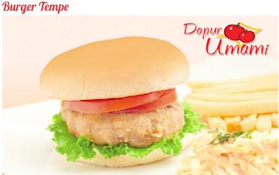 Foto Resep Burger Tempe Dapur Umami Vegetarian Tanpa Daging Sederhana Spesial Asli Enak