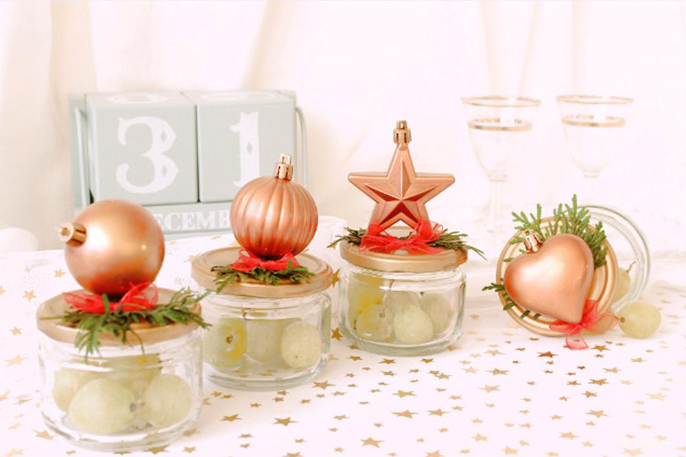 diy como decorar uvas nochevieja fin de año con tarros reciclados fácil y lowcost