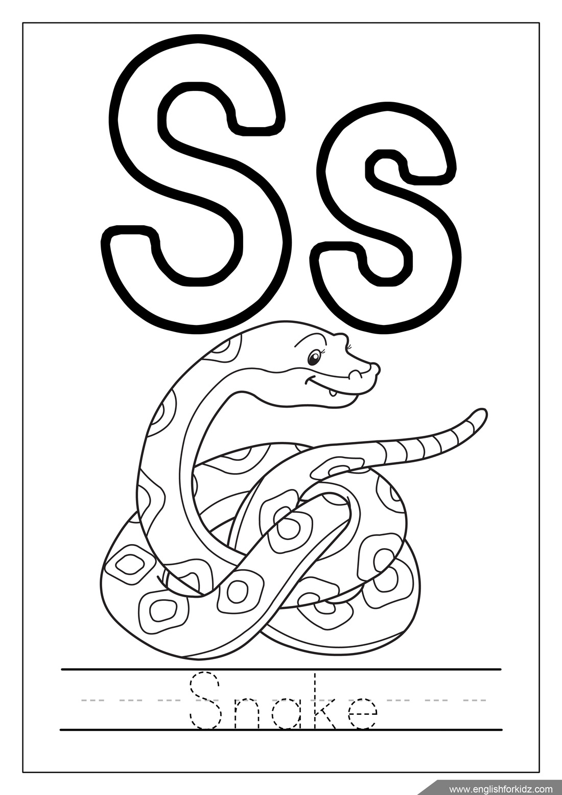 Alphabet Coloring Pages Letters K T S Coloring Page