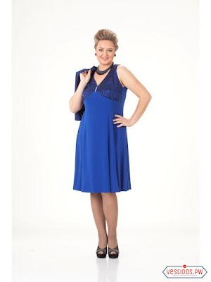 Vestido azul de verano