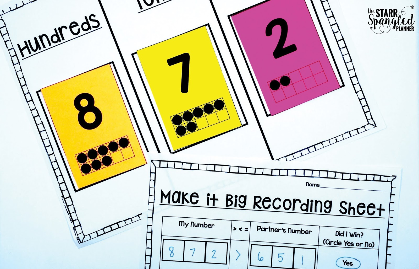 Teaching place value the starr spangled planner roll build write i love this center because it asks students to build their own numbers and then represent those numbers in expanded form and standard falaconquin