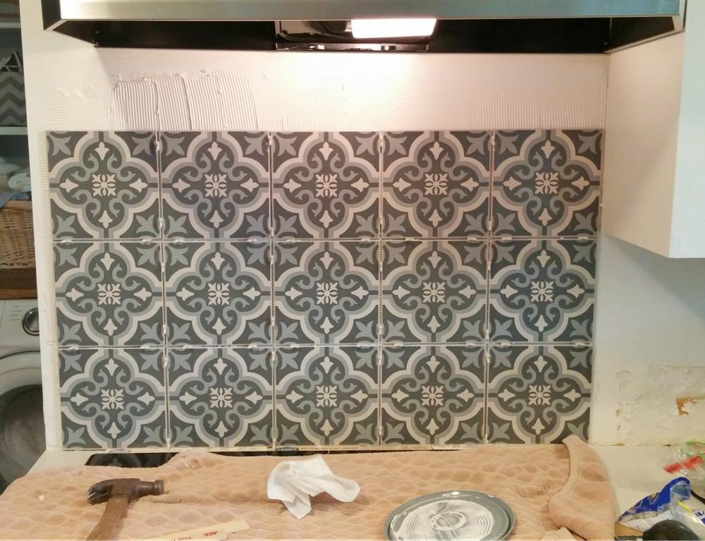How To Tile A Backsplash Little Vintage Cottage