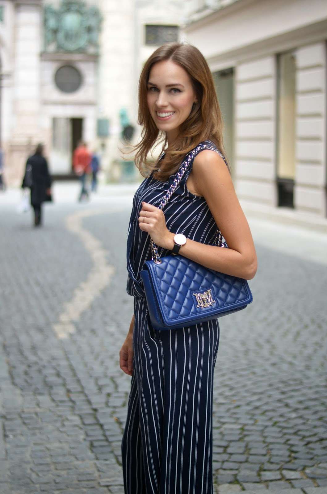 kristjaana mere summer navy striped outfit