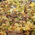 Paella de pato y ajos tiernos