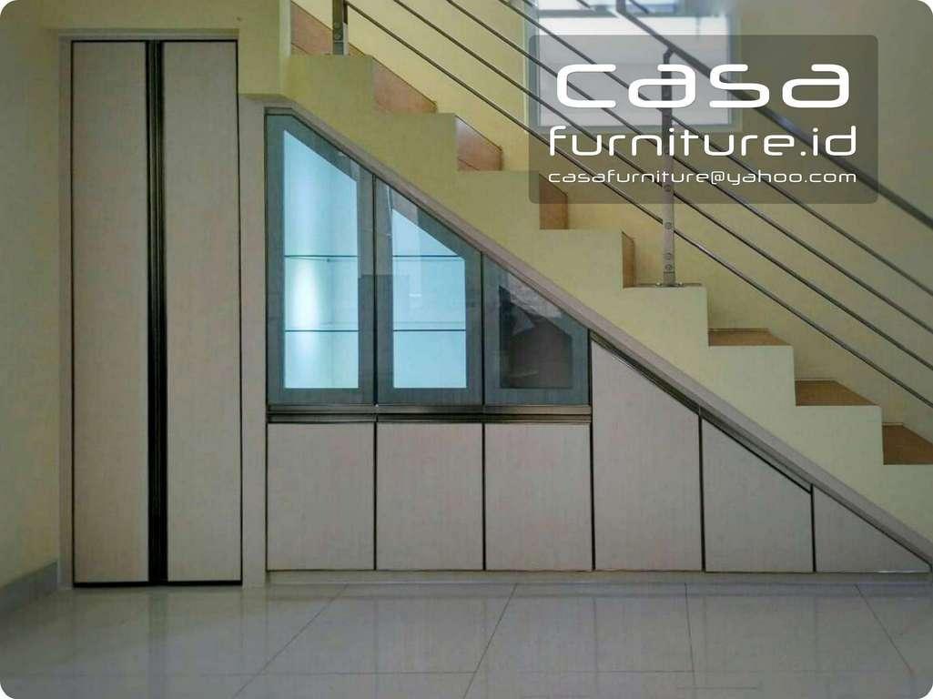 Lemari bawah tangga  Furniture minimalis tangerang