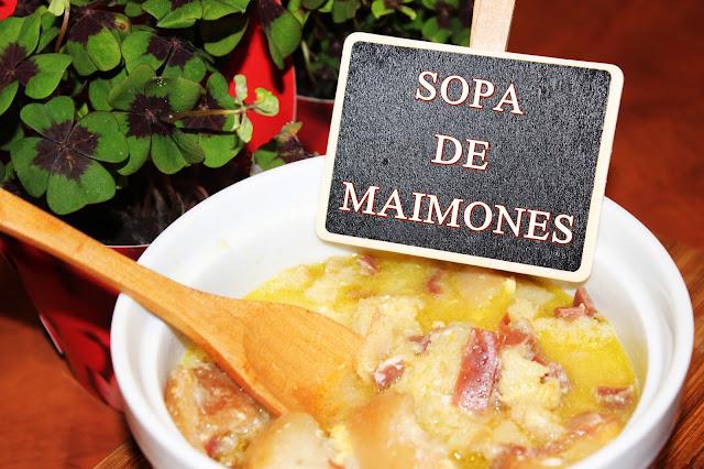 LA MEJOR SOPA DE MAIMONES {PAN-AJO-CALDO-DE-AVE-JAMÓN}