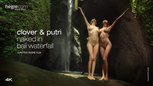 [Hegre-Art] Clover And Putri Naked In Bali Waterfall