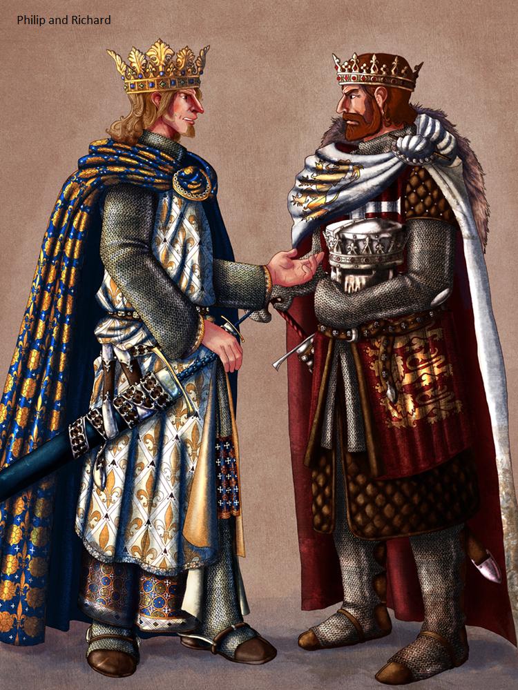 Resultado de imagen para Ricardo I y Felipe II de Francia