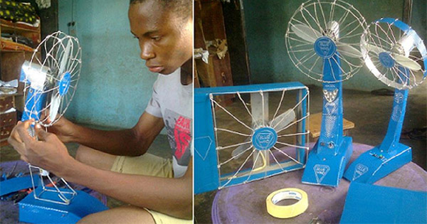 Ukoma Michael, Nigerian inventor of Blue Wind fans