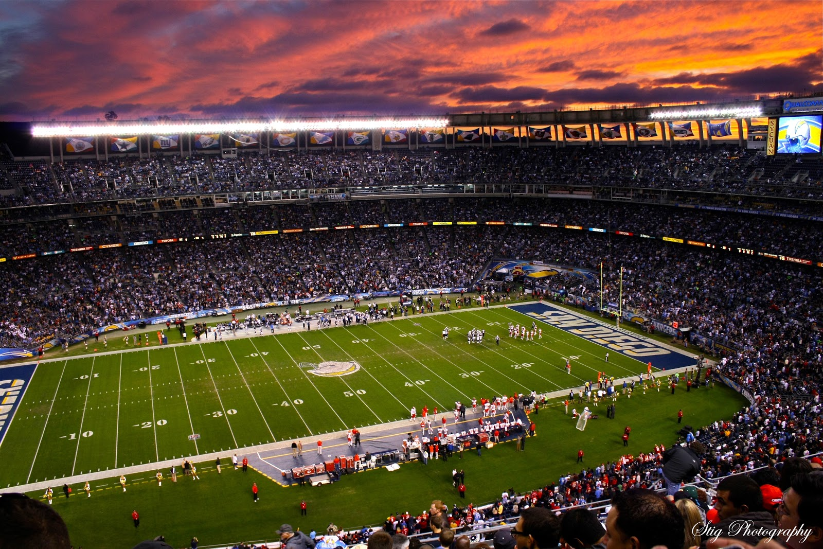 PhotograStig: Session at Qualcomm Stadium with Chargers ... Qualcomm Stadium Chargers Wallpaper