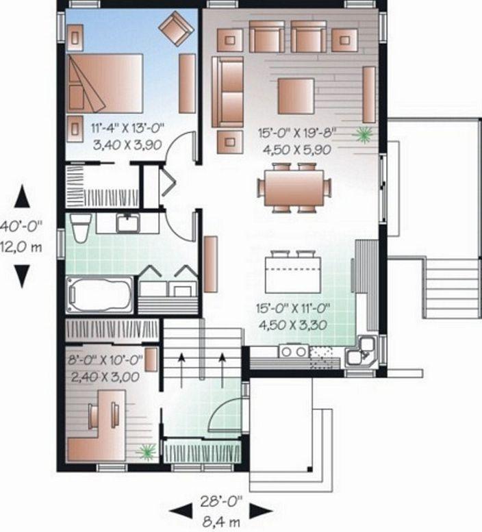 denah rumah sederhana lengkap minimalis