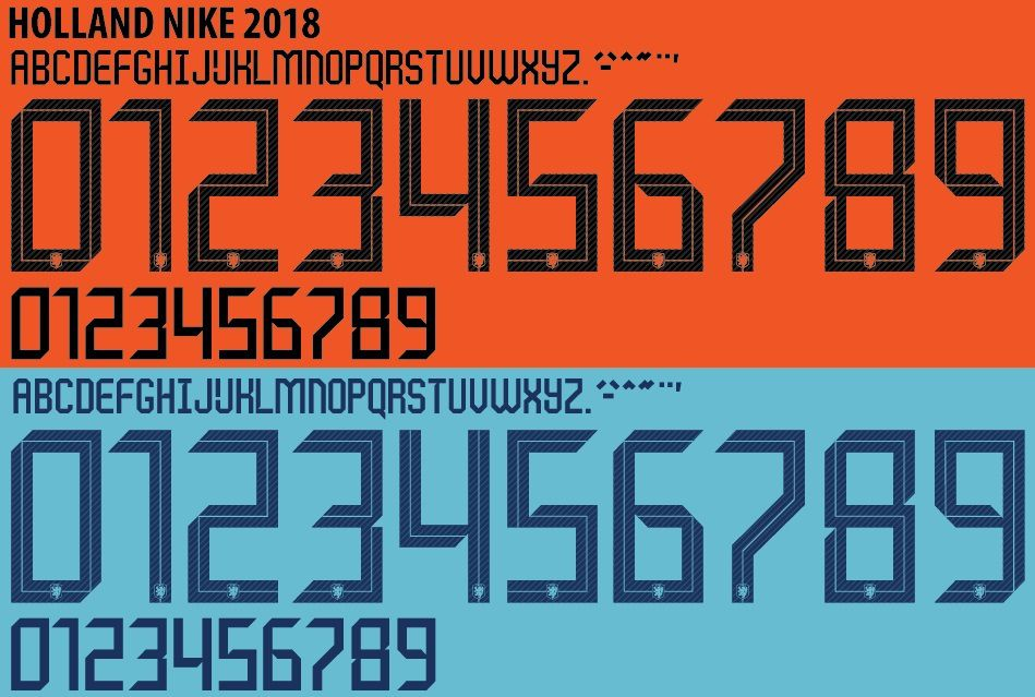 In Detail | ALL Unique Nike 2018 World Cup Kit Fonts - Footy