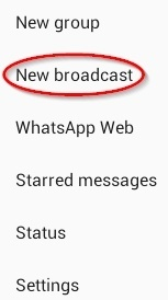 New Broadcast pe click kare
