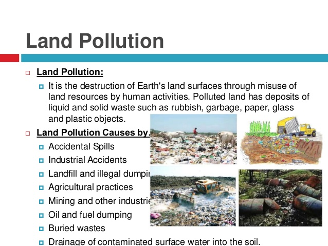 Go green save earth land water and air pollution for Land and soil resources definition
