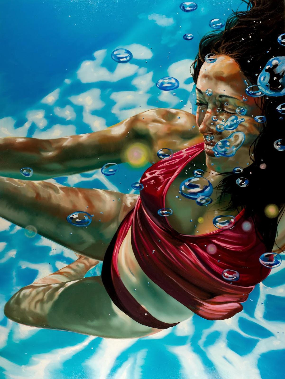 underwater paintings artwork - HD901×1200