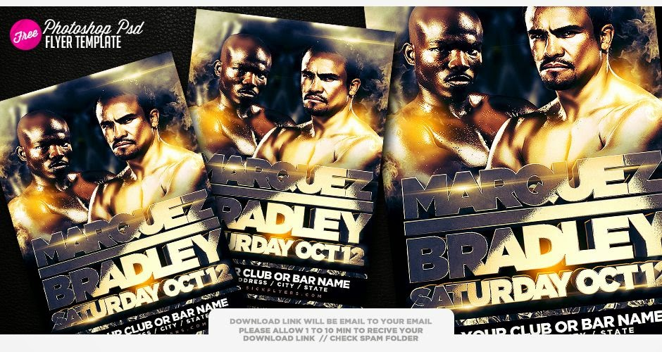 Bradley Marquez Poster Flyer Template PSD