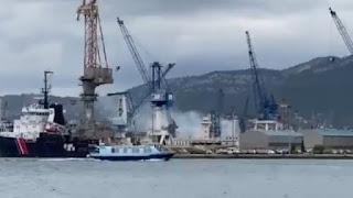 Kapal Selam Serang Tenaga Nuklir Prancis Terbakar di Drydock