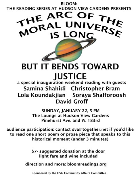 The Arc of the Moral Universe Reading in New York City
