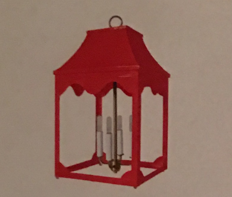 Hobe Sound Electrified Lantern & Decorating With Sheets