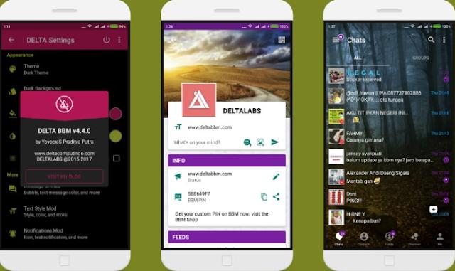 BBM Mod Delta v4.4.0 Apk Terbaru Paling Keren