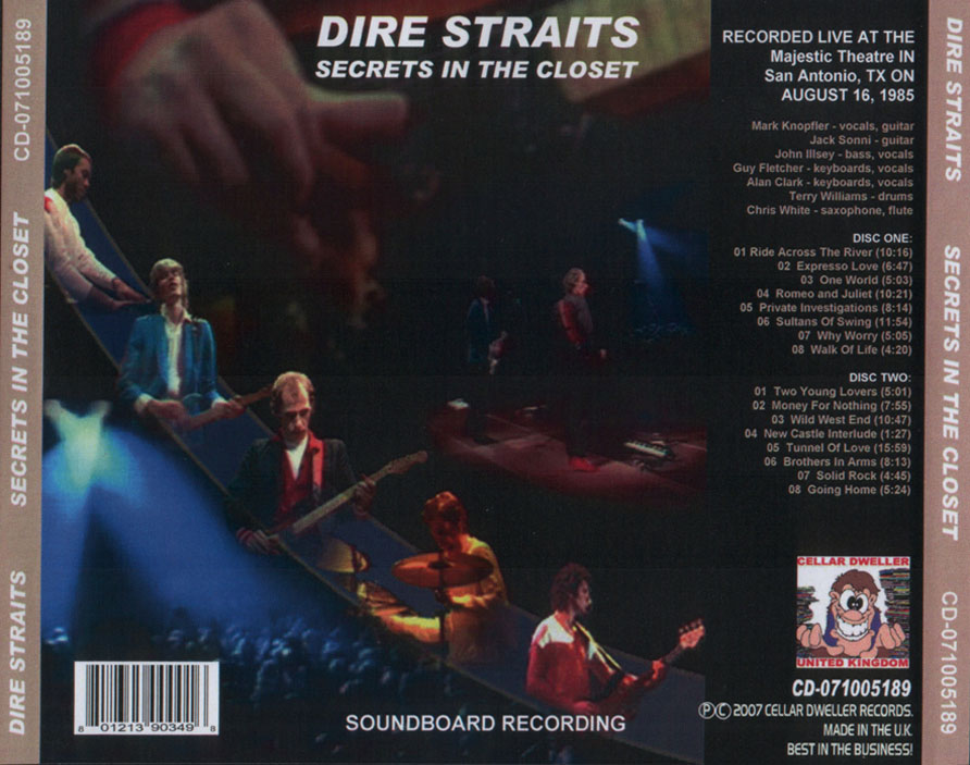 RELIQUARY: Dire Straits [1985 08 16] Secrets In The Closet [SBD@320]