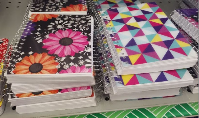 Notebooks from Dollar Tree for Operation Christmas Child shoeboxes.