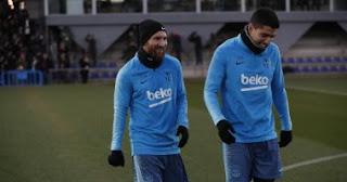 برشلونة ضد الريال.. ميسى يشارك فى التدريب الأخير