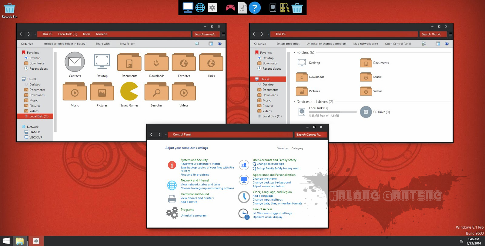 Screenshot Numix Skin Pack pada windows 8/8.1