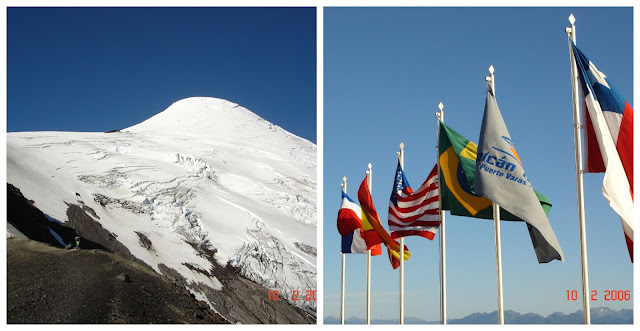 subindo o vulcão Osorno no verão