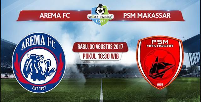 Prediksi GO-JEK LIGA 1 INDONESIA PSM Makassar vs Arema FC 14 Oktober 2018 Pukul 15.30 WIB