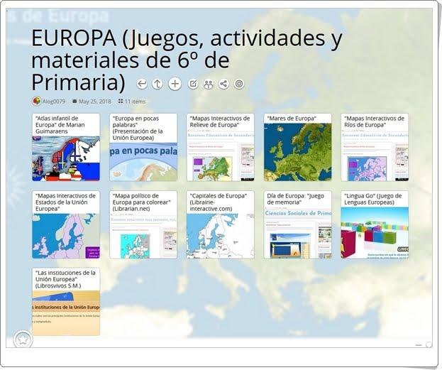 """""""11 Juegos, actividades y materiales para el estudio de EUROPA en 6º de Primaria"""""""