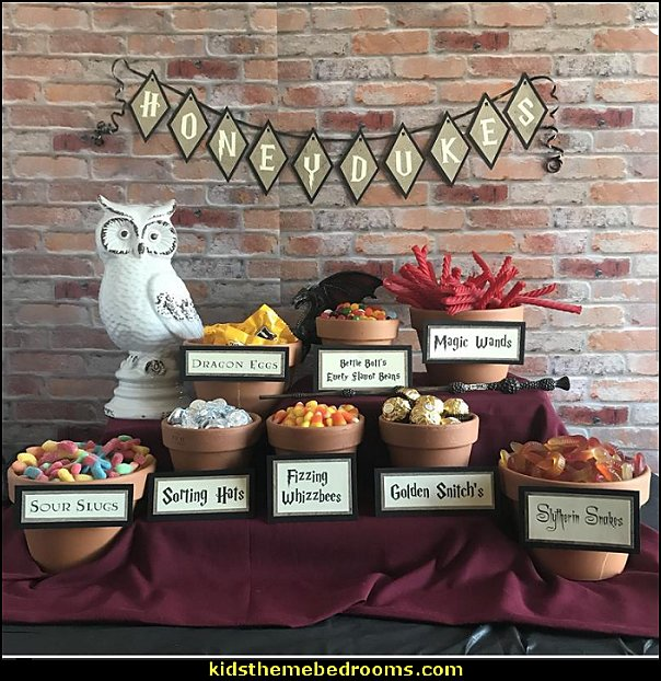 Honeydukes Party Candy Bar Signs & Honeydukes Banner, Honeydukes Candy Labels