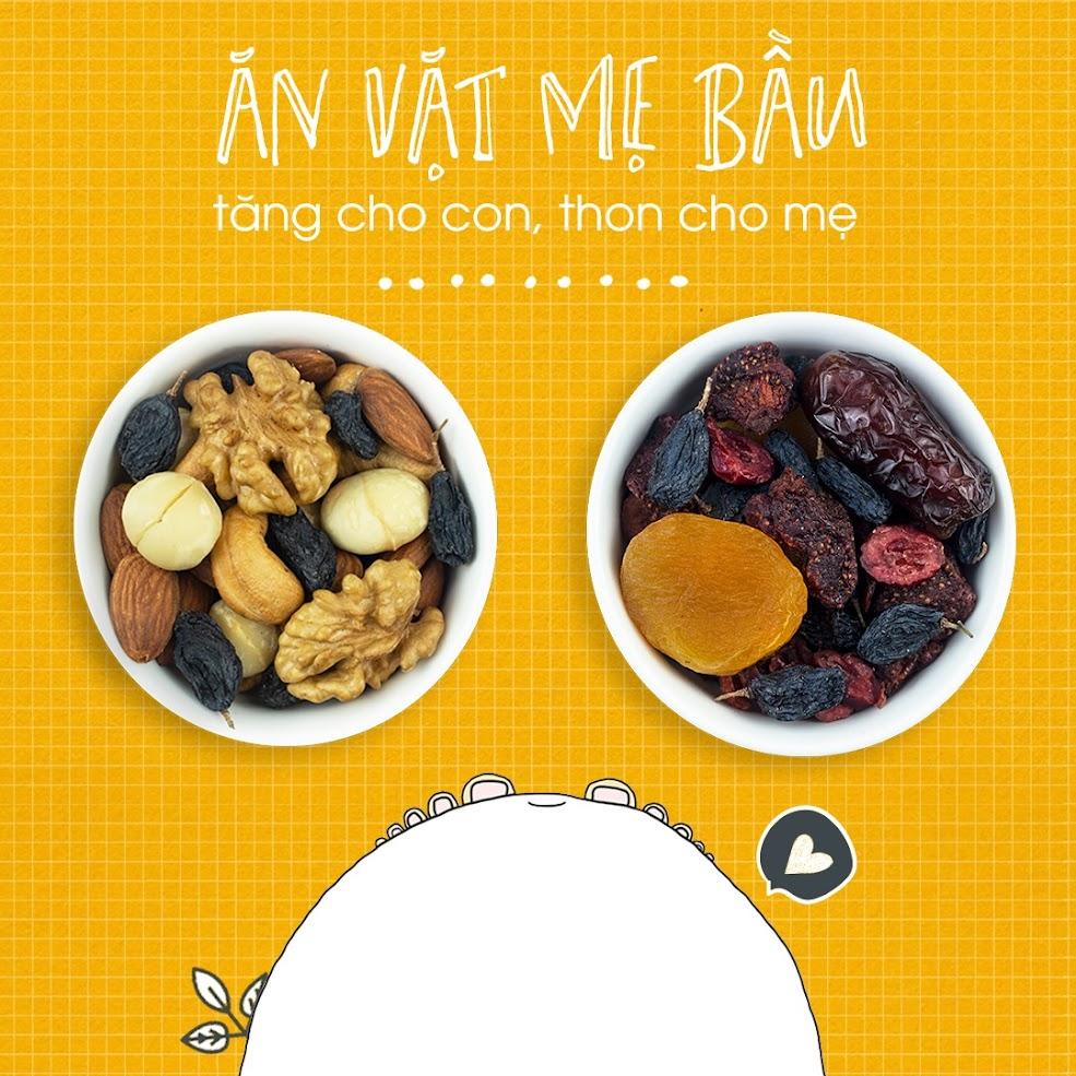 Mixnuts 5 loại hạt bổ dưỡng cho Mẹ Bầu mang thai tháng đầu