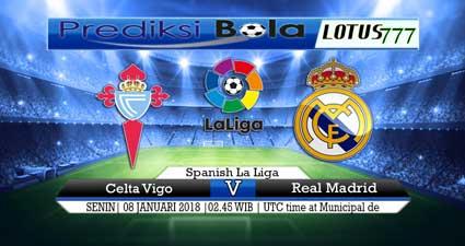 prediksi skor Celta Vigo vs Real Madrid 08 januari 2018