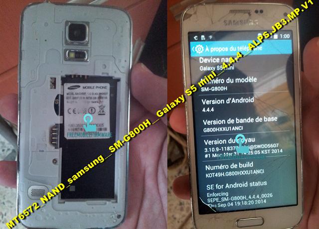 How To Flash Samsung S5 G800H Clone MT6572_NAND_samsung__SM-G800H__Galaxy S5 mini__4.4.4__ALPS.JB3.MP.V1